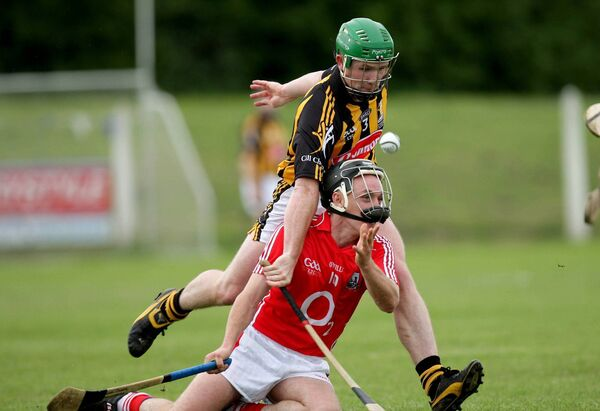 Rory Dwyer battles Paul Murphy, who went on to senior success, in 2009. Picture: INPHO/Morgan Treacy