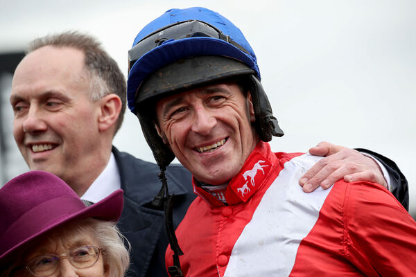 Davy Russell celebrates after winning with Envoi Allen. Picture: INPHO/Dan Sheridan