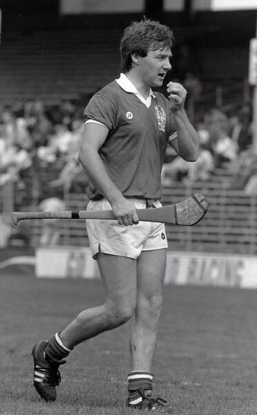 Cork hurling All-Star Tom Cashman in action in 1987. Picture: INPHO/Billy Stickland