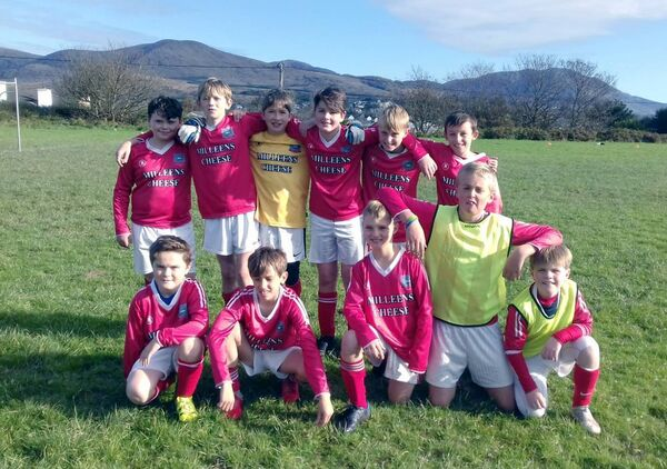 Castletownbere team Beara United who were pipped for the runners-up spot in the 2019-20 SuperValu West Cork Schoolboys U12 Division 1B League by Togher Celtic.