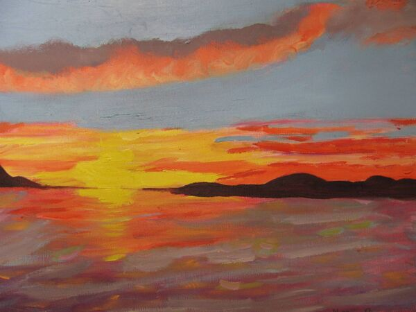 Sunset by Nena Dineen. ECHO FEATURES Cork Mental Health Foundation/Housing Association Art Exhibition Feature