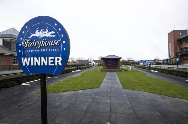 A view of Fairyhouse Racecourse after Horse Racing Ireland announced the cancellation of this year's racing festivals at Punchestown and Fairyhouse. Picture: INPHO/Morgan Treacy