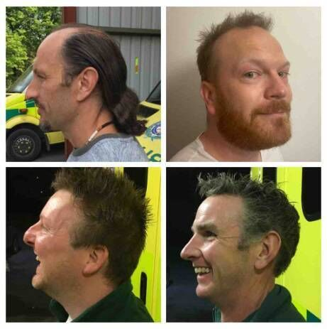 Paramedics Peter Madarasz, Domhnall Mac Aodha, Pádraig Healy and Pat Larkin will Brave the Shave in aid of charity on Wednesday, May 6.