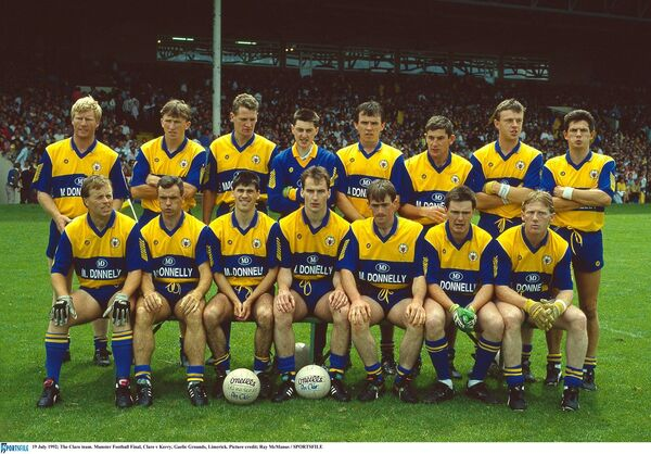 19 July 1992; The Clare team. Munster Football Final, Clare v Kerry, Gaelic Grounds, Limerick. Picture credit; Ray McManus