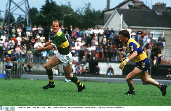 19 July 1992; Jack O'Shea, Kerry. Clare v Kerry 92, Munster Football Final, Gaelic Grounds, Limerick. Picture credit; Ray McManus/SPORTSFILE