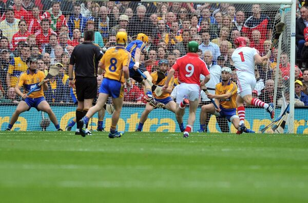 Anthony Nash nails a free at Croke Park. Picture: Eddie O'Hare