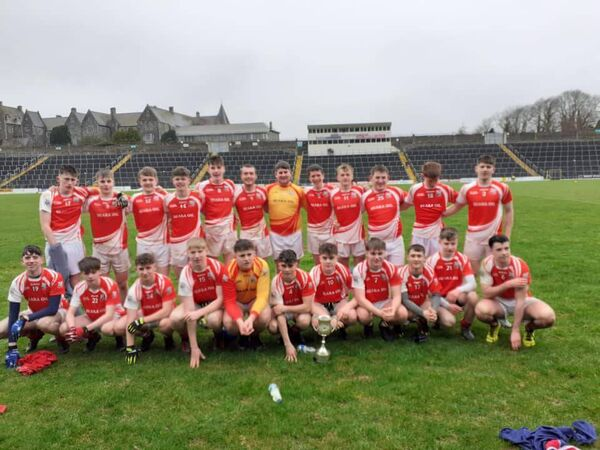 The victorious Beara Community School football panel who won the Munster championship title. They are scheduled to play the Connacht champions Dunmore this Saturday.