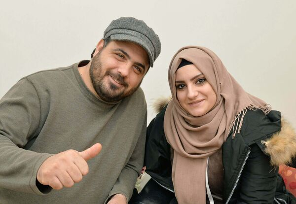 Ahmad Hazimeh and Rawan Kateb in Carrigtwohill, Co. Cork. Picture Denis Minihane.