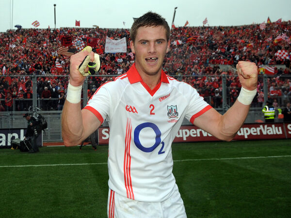 Joy for Eoin Cadogan, in front of the Hill. Picture: Eddie O'Hare