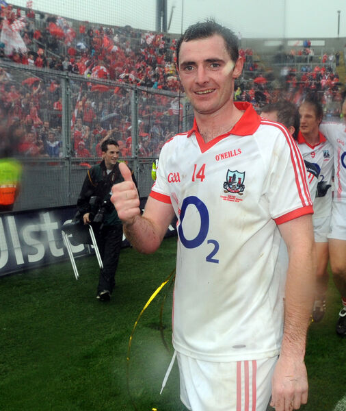 Donncha O'Connor in front of the Cork fans. Picture: Eddie O'Hare