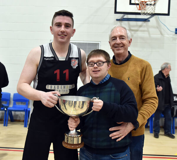 Ciarán O'Sullivan with Ballincollig supporters David and Dan Horgan. Picture: Eddie O'Hare
