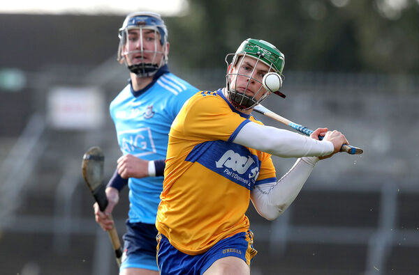 Clare's Ian Galvin scores a point. Picture: INPHO/Bryan Keane