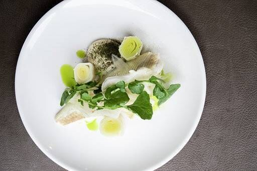 Aishling Moore's Fish Dish with Leeks. Picture Clare Keogh
