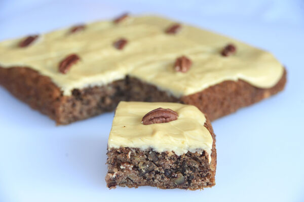Banana and Pecan slice (vegan). Try the recipe in the link below.Picture: Larry Cummins