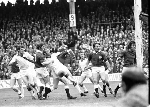 Cork dual icon Jimmy Barry-Murphy scores against Galway in the 1973 final. Picture: Irish Examiner Archive