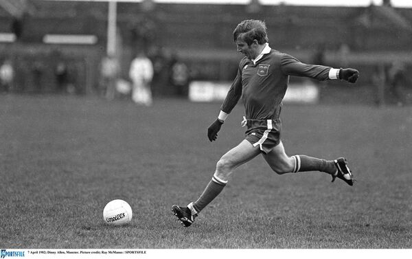 Cork and Nemo football legend Dinny Allen, kicking a free for Munster. Picture: Ray McManus/SPORTSFILE