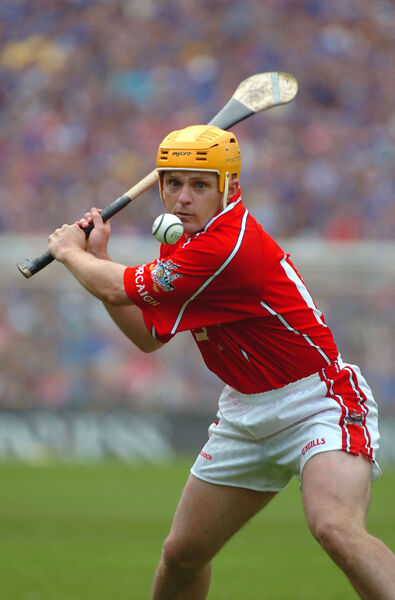 Joe Deane fires over a free on his way to 0-8 against Tipp in the 2006 Munster final at Semple Stadium. Picture: Larry Cummins