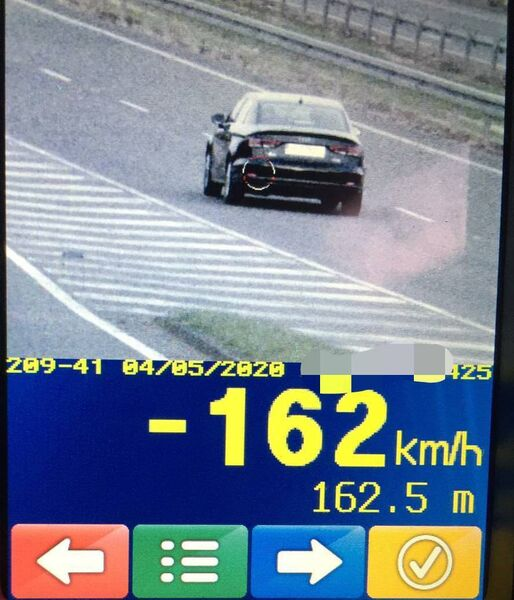 A motorist was caught travelling at 162km/h on the Ballincollig bypass yesterday.