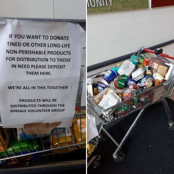 Smith's SuperValu in Kinsale has been collecting shopping for the people in the community who need it the most.