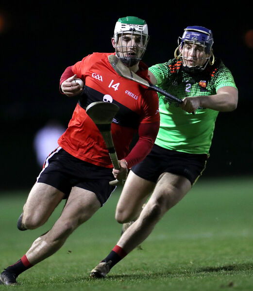 UCC's Shane Kingston and Shane Reck of IT Carlow. Picture: INPHO/James Crombie