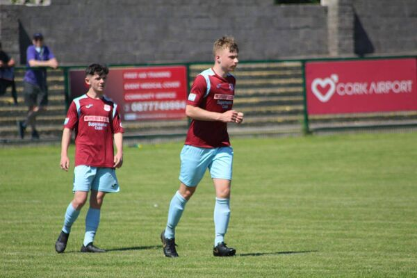 Timmy O'Reilly, left, in action with Cobh Ramblers.