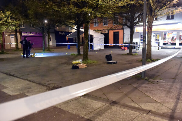 Scene at the incident at Pearse Square, Ballyphehane on Tuesday night.Picture: Eddie O'Hare