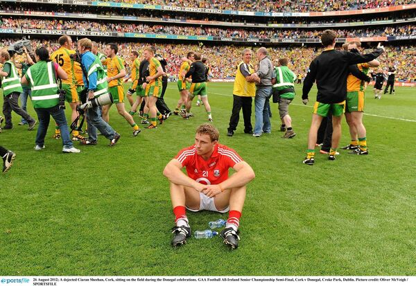 A dejected Ciaran Sheehan. Picture: Oliver McVeigh/SPORTSFILE