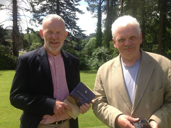 John Devoy and Maurice Sweeney, the editor at the IMMRAME travel writers festival