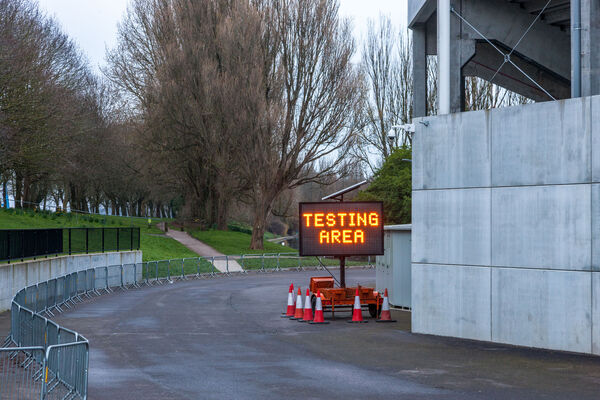 Cork City, Cork, Ireland. 22nd March, 2020. A drive-thru testing for Coronavirus Covid 19 area has been set up at the GAA's Pairc Ui Chaoimh grounds on th Marina in Cork, Ireland. - Picture; David Creedon / Anzenberger