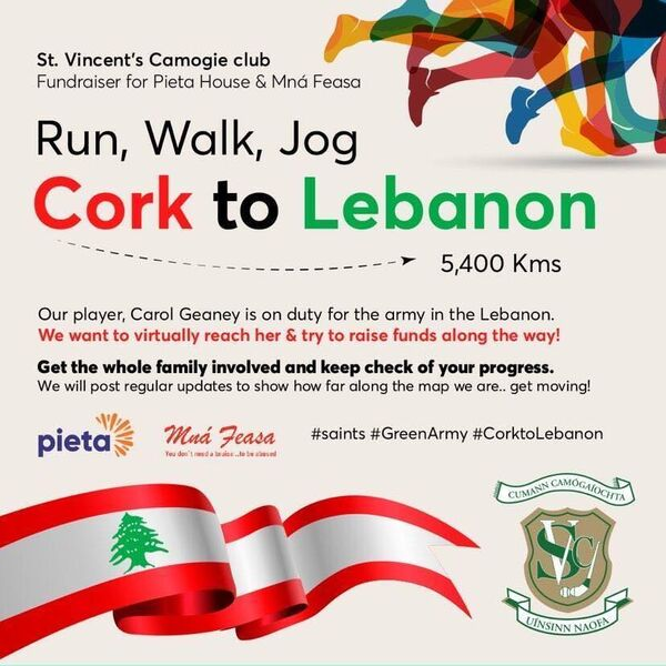 Cork to Lebanon fundraiser by St Vincent's Camogie Club