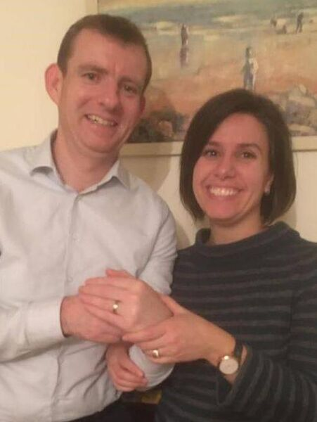 Sara and her partner Declan, who was reunited with his lost ring. Pic: Garda Southern Region Facebook.