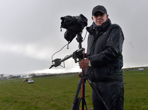 Mel Hughes, a cameraman at the photo finish from the turf club. Picture: Eddie O'Hare