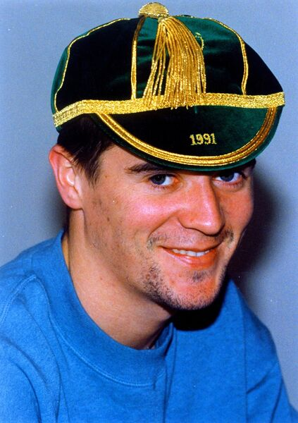 Roy Keane wearing an Ireland cap in December 1992. Picture: Eddie O'Hare