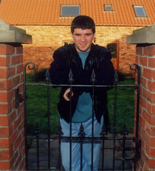 Roy Keane at his home in Scarrington, Nottingham in December 1992. Picture: Eddie O'Hare