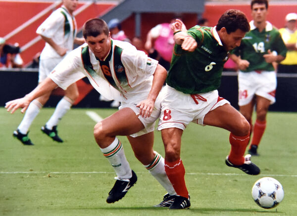 Roy Keane in the Mexican clash at World Cup '94. Picture: Eddie O'Hare
