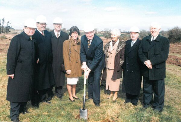 The first sod turning of the Curraheen Park.