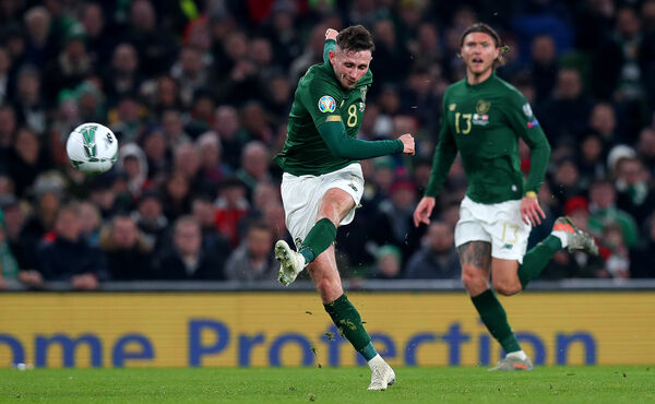 Ireland's Alan Browne shoots on goalMandatory Credit ©INPHO/Ryan Byrne