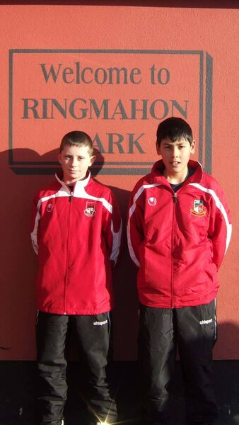 Mahon matters Well done to Ringmahon Rangers players Alan Browne and Eric Grimes who are selected for the Cork U 12 Team.