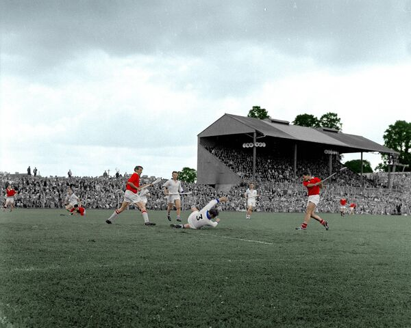 The late Cork hurler John Bennett in action against Waterford in 1966.