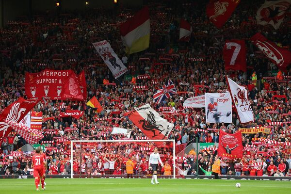 The Kop  in full voice prior to a clash with old rivals Manchester United at Anfield in 2013 	Picture: Alex Livesey/Getty Images