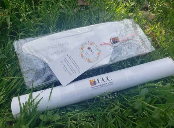 Last month, UCC took the opportunity to make the delivery of parchments to recent graduates living in China that little bit more special by sending a face mask and bookmark as well as their parchment.