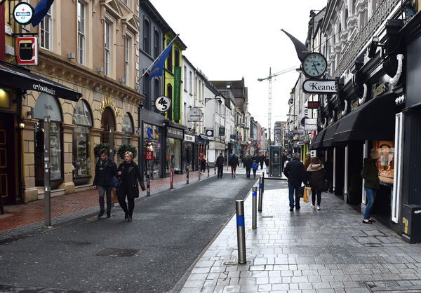 Oliver Plunkett street in Cork City centre on Saturday afternoon at 2. 25pmPicture: Eddie O'Hare