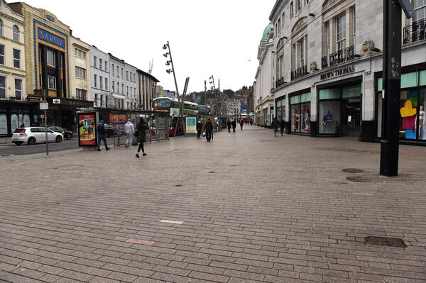 St. Patrick street, Cork at 2 30 pm on Saturday during the Covid -19 virusPicture: Eddie O'Hare
