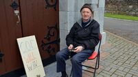 'I nearly collapsed when I saw the doors of the church locked'; Corkman holds daily vigil to protest church closures