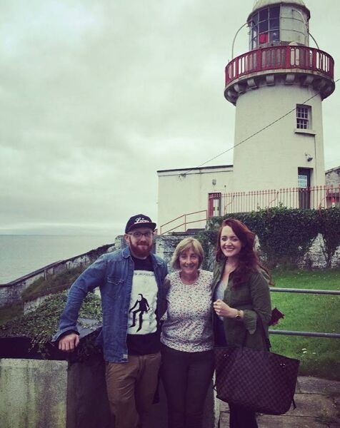 Saoirse Fitzgerald who purchased the lighthouse keeper's house, with brother Jamie and mum Siobhan.