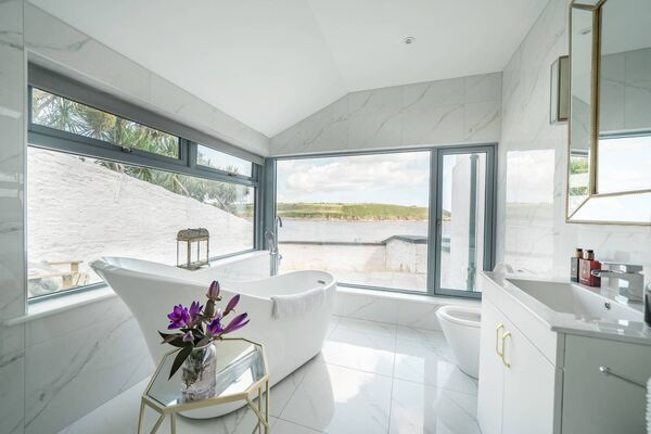 The bathroom of the home of Saoirse Fitzgerald in East Cork, which features on Home of the Year on RTE1