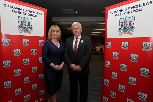 Tracey Kennedy, vice chairperson of the Cork County Board, with Jerry O'Sullivan. Picture: Jim Coughlan.