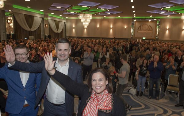 Mary Lou McDonald arrives at a public rally in CorkPicc Michael Mac Sweeney/Provision