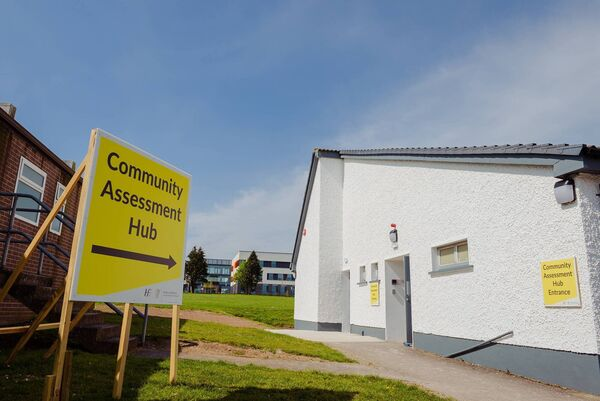 Community Assessment Hub at St Mary's Health Campus. Picture: Philip Daly
