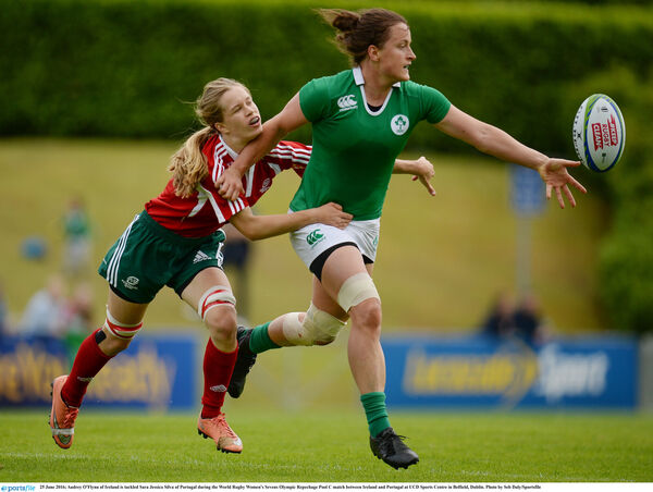 Irish rugby sevens international Audrey O'Flynn. Picture: Seb Daly/Sportsfile